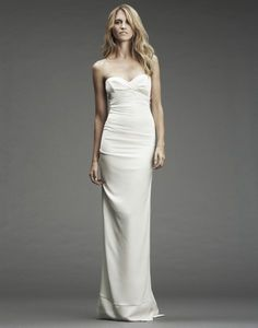 NICOLE MILLER | WEDDING LOOKBOOK | HERITAGE - classic NM fav... fabric and slender fit. need straps?