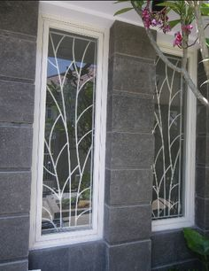 Stunning Wrought Iron Design Ideas That Are Truly Amazing - Genmice Window Grill Design Modern, House Window Design, Grill Door Design, Gate Design, House Design, Iron Windows, Windows And Doors, Window Security Bars, Window Bars
