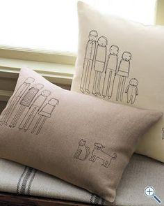 Family Portrait Pillow