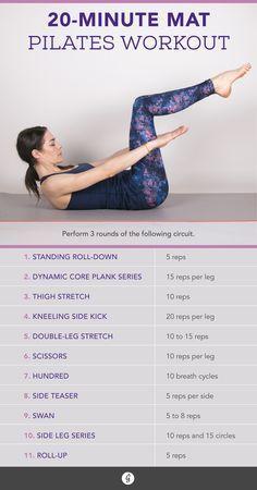 20-Minute Mat Pilates Routine #pilates #workout #fitness