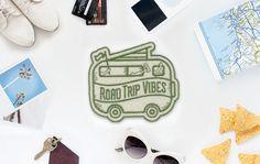 Road Trip Vibes fühlte Sticker Patch  Made in USA von ElloThere