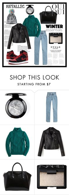 """""""Metallic and chic"""" by florairon ❤ liked on Polyvore featuring beauty, Vetements, J.Crew, Oui, Gucci, Givenchy and NARS Cosmetics"""