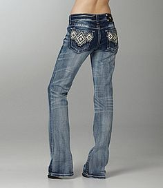 Miss Me Jeans Leather-Embellished Bootcut Jeans