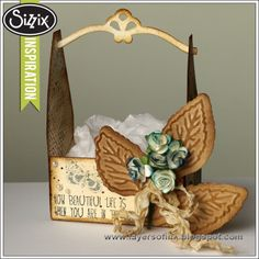 Sizzix Die Cutting Inspiration | Flower Crate by Anaa-Karin