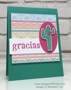 World of Thanks, Birthday Fiesta, Stampin' Up!, Brian King, PPA308