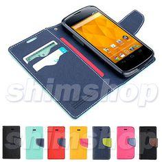 LG Google Nexus 4 E960 Black TPU Gel Jelly Leather Book Flip Wallet Case Cover | eBay