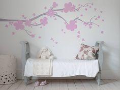 cherry blossom wall sticker by bambizi   notonthehighstreet.com
