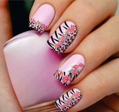 Nail art designs, leopard nails and nail designs. Nail Art Designs, Beautiful Nail Designs, Beautiful Nail Art, Nails Design, Awesome Designs, Pedicure Designs, Simple Designs, Great Nails, Fabulous Nails