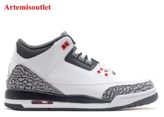 7a178292427 UA Air Jordan 3 Retro BG Gs White Black Wolf Grey Infrared with Great  Discount 10