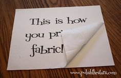 This is how you print on fabric