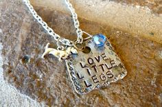 Love Little Legs Doxie Dachshund Dog Necklace.