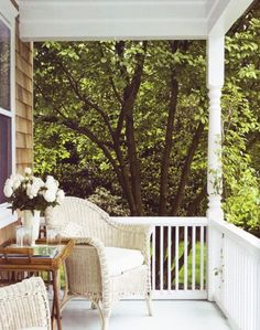 """Porch love.  For """"rockin' chairs and rockin' babies.""""-Dolly"""