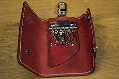 Vintage Genuine Vegetable Tanned Leather Cowhide Women Men Men's Key Wallet Wallets Purse Housekeeper Holder Case Bag For Man