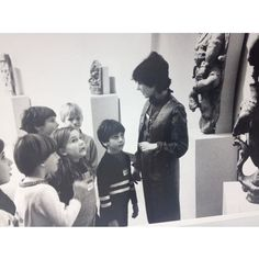 #TBT to the 80s! Here, some school children of the past get a tour of UMMA's Asian Galleries. Photo courtesy of the #umich Bentley Historical Library.