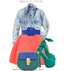 Untitled #2314 by stylebydnicole on Polyvore featuring polyvore, fashion, style, Gap, Luichiny, Chloé and Maison Margiela