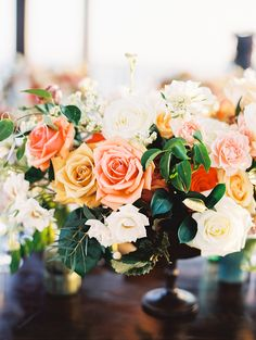 Photography : Sally Pinera | Venue : The Cape | Floral Design : Florenta | Dress : Vera Wang Read More on SMP: http://www.stylemepretty.com/2017/02/27/this-is-how-you-do-tropical-elegance-in-los-cabos/