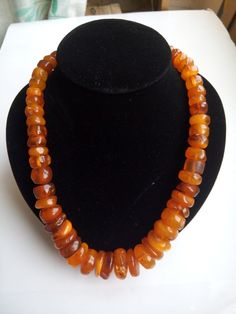 85,02 gr Antique Natural Baltic Amber Honey Egg Yolk Color Tablet Beads Necklace #VINTAGE #amber #OLD #Beads #BALTIC #Stone #antique #Royal #gilded #brooch #beautiful #natural #honey #necklace #pendant