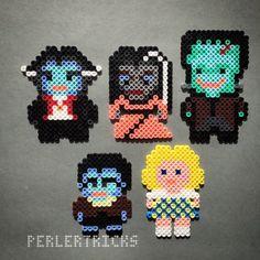 The Munsters characters - Perler original design by perlertricks (by HarmonArt2)
