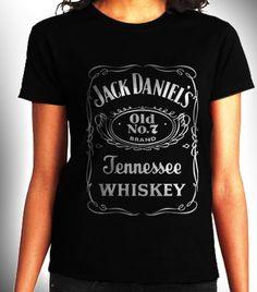 Jack Daniels Jennesse Whiskey Women Black Shirt XS S by CahyaAbadi, $23.50