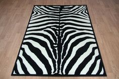 Quality Zebra Print Rug 120cm x 170cm Zebra Jungle Safari Animal Print Twist Rug in Home, Furniture & DIY, Rugs & Carpets, Rugs   eBay