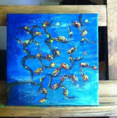 acrylic painting - windy