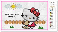 Ponto Cruz e Mais: Hello Kitty com seu cãozinho!!
