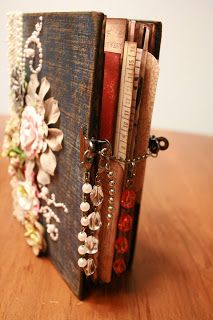 A Creative Operation: Altered Books. Very cool alternative to scrap booking. Handmade Journals, Handmade Books, Vintage Journals, Journal Covers, Book Journal, Book Covers, Altered Book Art, Scrapbook Albums, Scrapbooking