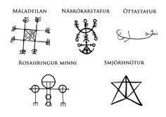 sacred-chaotic-geometry: Icelandic Magical Staves are symbols...