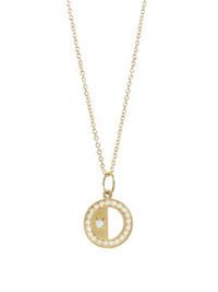 Andrea Fohrman- First/Third Quarter Moon Charm - White Diamond Trim Moon Charm, Jewelry Box, Jewellery, Third, Jewelry Design, Gold Necklace, Charmed, Jewels, My Style
