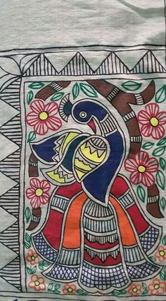 Simple Folk Art Drawing
