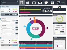 FLINK - personal finance manager by Fede Gonzalez, via Behance