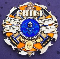 "Chief Petty Officer (CPO) Challenge coin ""Real Genuine Chief"""