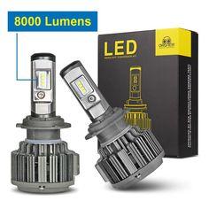 Car Lights Car Head light Car LED Headlight H4 Led Headlamp H7 Led lamp H1 Led 9003 9004 H11 H13 9005 9006 9012 H3 9007 8000LM
