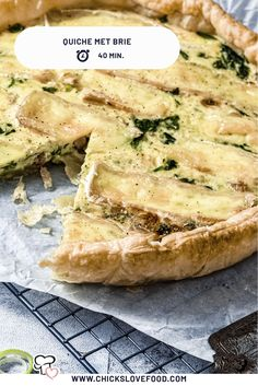 Quiche Recipes, Cheese Recipes, Brie, Oui Oui, Love Food, Food And Drink, Favorite Recipes, Lunch, Healthy Recipes