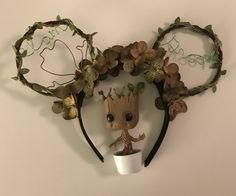 I am Groot ears Disney Ears Headband, Diy Disney Ears, Disney Minnie Mouse Ears, Disney Headbands, Disney Diy, Disney Crafts, Disney Dress Up, Disney Outfits, Etsy Business
