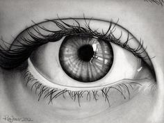 Drawing of my eye and guitar reflected. This one was really fun for me to draw. :) (Risa Jenner, 2012) #drawing #art