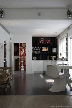 Love the idea of a custom made neon sign for the home.