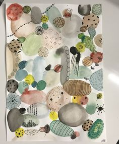 Pin by Petra Kuhlmann on Kunstunterricht Kunstjournal Inspiration, Art Journal Inspiration, Art And Illustration, Abstract Watercolor, Watercolor And Ink, Kids Room Art, Art For Kids, Guache, Art Themes