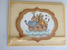 """""""two by two"""" baby card"""