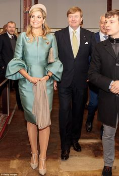 ♥•✿•QueenMaxima•✿•♥...King Willem-Alexander And Queen Maxima Of The Netherlands arrive at the Spinlab - a former...