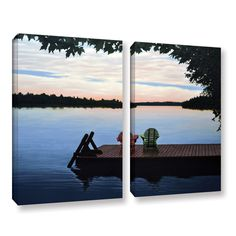 ArtWall 'Ken Kirsh's Tranquility' 2-piece Gallery Wrapped Set