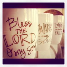 Personalized. Ask friends/family what their favorite hymn is and write it on a mug.