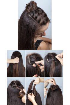 Flechtfrisuren: Anleitung zum Haare stylen Cute Simple Hairstyles, Open Hairstyles, Easy Hairstyles For Long Hair, Girl Hairstyles, Easy Hairstyle Video, Quick Braided Hairstyles, Fast Hairstyles, Everyday Hairstyles, Front Hair Styles