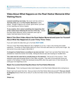 Video About What Happens on the Pearl Harbor Memorial After Visiting Hours