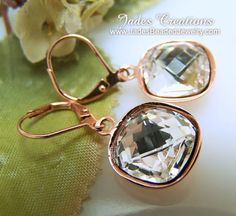 Shorties by Cuties - Stunning  Crystal and Copper Beaded Earrings  by Jades Creations Jewelry