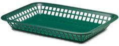 Tablecraft 1079 Rectangular Plastic Fast Food Basket 12 / Pack