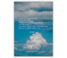 Trauerkarte: Je schöner und voller die Erinnerung - http://www.1agrusskarten.de/shop/trauerkarte-je-schoner-und-voller-die-erinnerung/    00009_0_1622, Beistands Karten, Grußkarte, Hoffnung, Klappkarte, Trauer, Trost Karten, trösten, Wolken00009_0_1622, Beistands Karten, Grußkarte, Hoffnung, Klappkarte, Trauer, Trost Karten, trösten, Wolken
