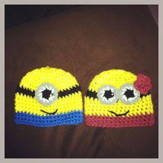 Baby Boy and Girl Minion Beanies