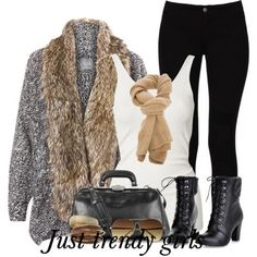 guess fur cardigan , Fur vests and cardigans outfits http://www.justtrendygirls.com/fur-vests-and-cardigans-outfits/