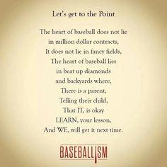 Heart of softball/baseball